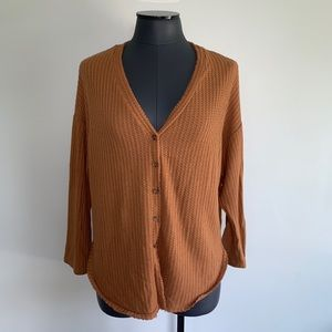 Forever 21 Waffle Knit Lightweight Cardigan Top
